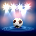 Black white football soccer ball colour illustration Royalty Free Stock Image