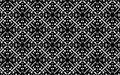 Black and white four sided mandala pattern.