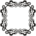 Black and white frame Stock Image