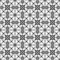Black white geometric pattern seamless abstract style Royalty Free Stock Photos