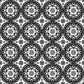 Black and white geometric pattern seamless arabesque style Royalty Free Stock Photo
