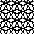 Black and white geometric seamless pattern chinese style, abstra