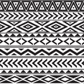 Black and white geometric seamless pattern Royalty Free Stock Photo