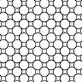 Black and white geometric seamless pattern with line and circle, Royalty Free Stock Photo