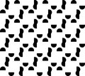 Black and white geometric seamless pattern with semicircle abst abstract background vector illustration Royalty Free Stock Photo