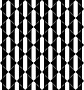 Black and white geometric seamless pattern with triangle, abstra