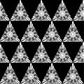 Black white geometric seamless pattern with triangle, abstract background, vector Royalty Free Stock Photo