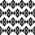Black and white geometric seamless pattern vector Royalty Free Stock Photos