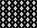 Black & white geometric seamless texture with rhombuses