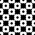 Black & white geometric texture, circles, crosses