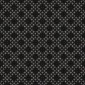 Black & white geometric vector texture, dots in diagonal grid