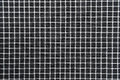 Black and white gingham cloth background with fabric texture Royalty Free Stock Photo