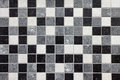 Black, white and gray mosaic tiles Stock Photography