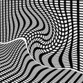 Black and white grid illustration Royalty Free Stock Image