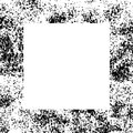 Black and White Grunge Dust Messy Border Frame Royalty Free Stock Photo