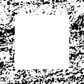 Black and White Grunge Dust Messy Border Royalty Free Stock Photo