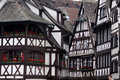 Black and white half-timbered houses Royalty Free Stock Photo
