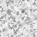 Retro Black And White Halftone Grunge Polka Dots Mess Background Pattern Texture Royalty Free Stock Photo