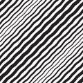 Black and white halftone diagonal wavy stripes seamless texture