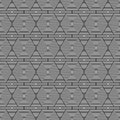 Black and white hexagon tiles pattern repeat background that is seamless repeats Royalty Free Stock Images