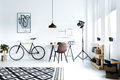 Black and white hipster room Royalty Free Stock Photo