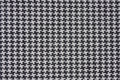 Black and White Houndstooth Check Fabric Stock Photography