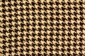 Black and white houndstooth pattern. Dogstooth check design as background. Royalty Free Stock Photo