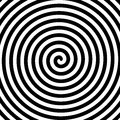 Black and white hypnosis spiral Royalty Free Stock Photo