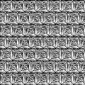 Black and white hypnotic background seamless pattern this is file of eps format Royalty Free Stock Image