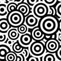 Black and white hypnotic seamless pattern Royalty Free Stock Photo