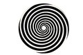 Black and white hypnotic whirlpool shape Royalty Free Stock Photos