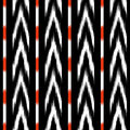 Black and white ikat Seamless Pattern Design for Fabric