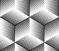 Negro y blanco  3d patrón