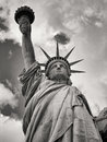 Black and white image of the Statue of Liberty in New York Royalty Free Stock Photo