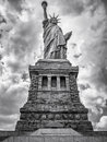 Black and white image of the Statue of Liberty in New York City Royalty Free Stock Photo