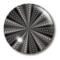 Black and white infinity button Royalty Free Stock Photo