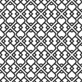 Black and white islamic seamless pattern