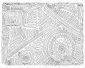 Black and white labyrinth hand-drawn, doodle, vector Royalty Free Stock Photo