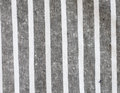Black and white linen texture stripe fabric Stock Photography