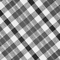 Black and white loincloth texture checkered fabric background Stock Photos