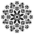 Black and white mandala element.Culture, element.Decorative ornament in ethnic oriental style.