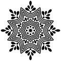 Mandala isolated on white.Mandala. Element, decoration.