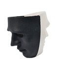 Black and white masks like human behavior conception Royalty Free Stock Image