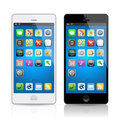 Black & white mobile phone, vector Royalty Free Stock Photo