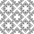 Black and white moroccan pattern