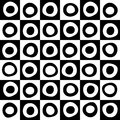Black and white mosaic background geometric for your web design Royalty Free Stock Photo