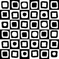Black and white mosaic background geometric for your web design Royalty Free Stock Photography