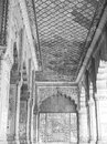 Black & White Old Architecture inside Red Fort in Delhi India during day time, Famous Red Fort Delhi inside view