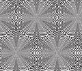 Black and white op art design vector seamless pattern background lines only Royalty Free Stock Photography