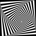 Black and white optical illusion. Vector background. Visual Art